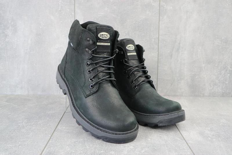 Мужские ботинки кожаные зимние черные botus 10