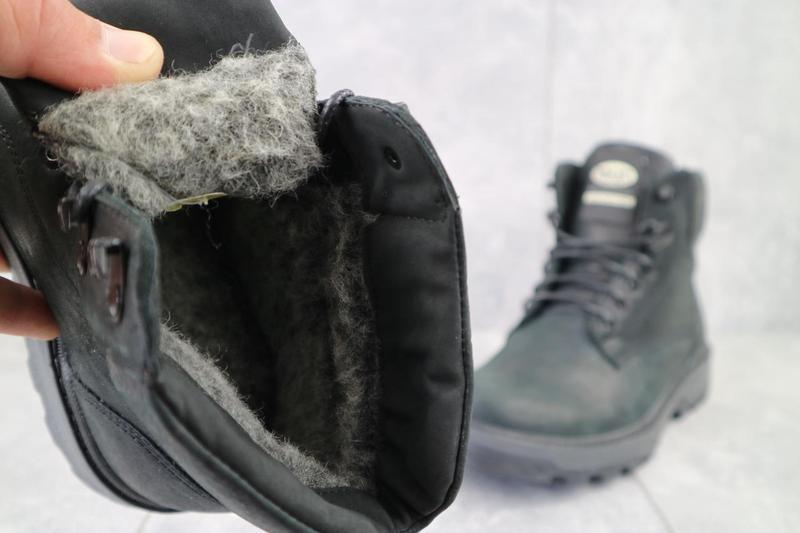 Мужские ботинки кожаные зимние черные botus 10 - Фото 2