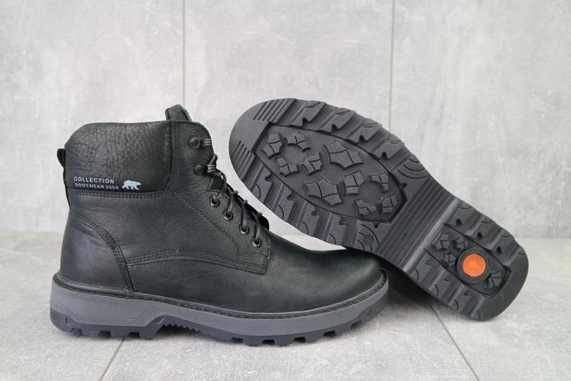 Мужские ботинки кожаные зимние черные botus 10 - Фото 3