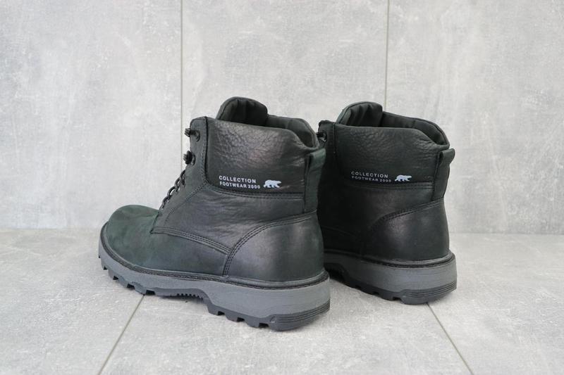 Мужские ботинки кожаные зимние черные botus 10 - Фото 4