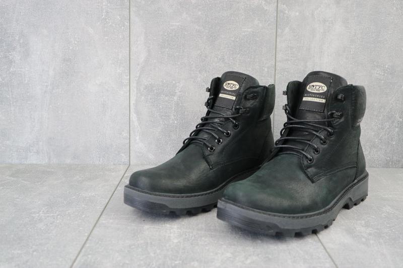 Мужские ботинки кожаные зимние черные botus 10 - Фото 5