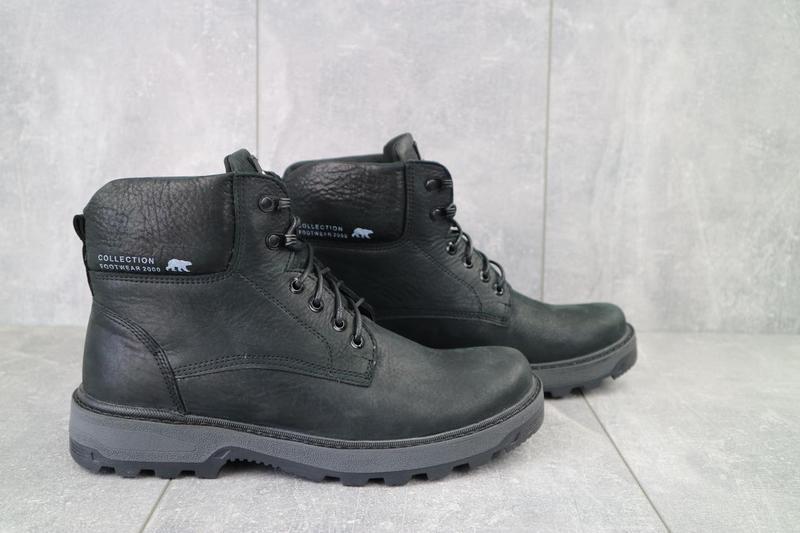 Мужские ботинки кожаные зимние черные botus 10 - Фото 6