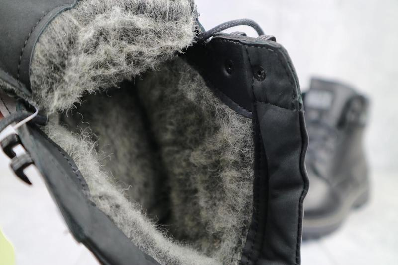 Мужские ботинки кожаные зимние черные botus 21 - Фото 2
