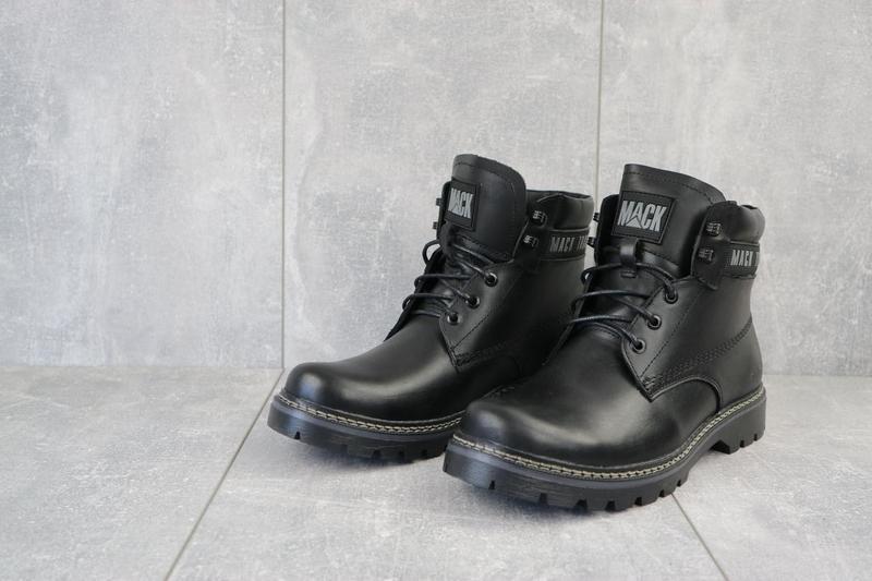 Мужские ботинки кожаные зимние черные botus 21 - Фото 3