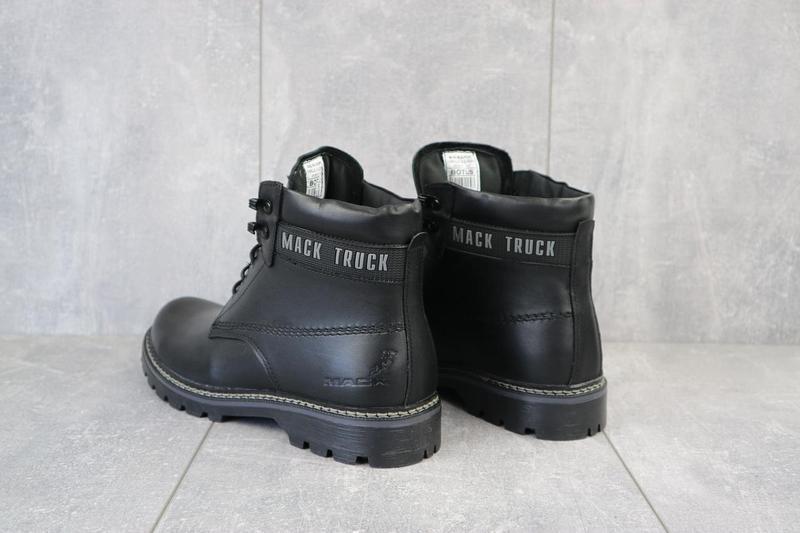 Мужские ботинки кожаные зимние черные botus 21 - Фото 4