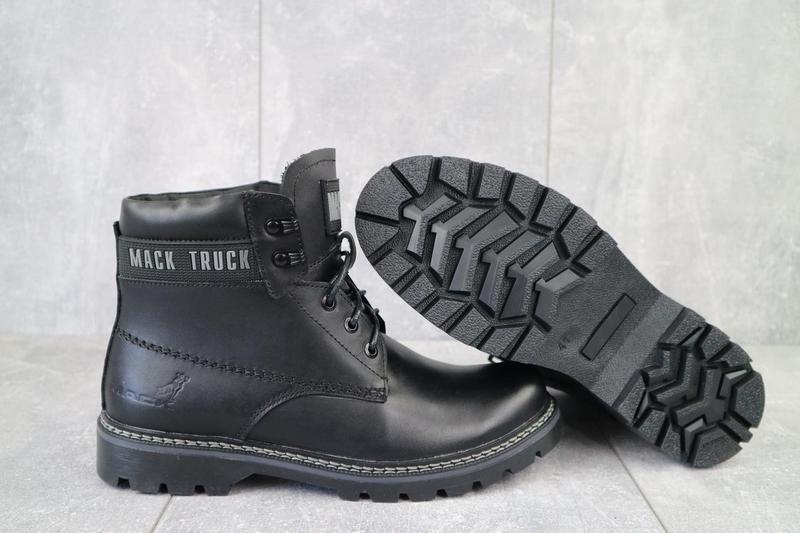 Мужские ботинки кожаные зимние черные botus 21 - Фото 5