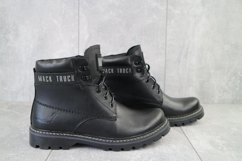 Мужские ботинки кожаные зимние черные botus 21 - Фото 6