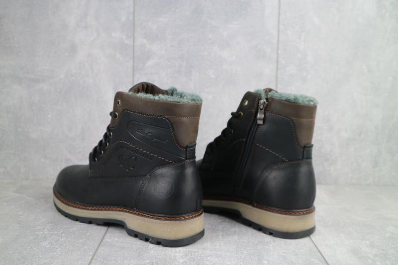 Мужские ботинки кожаные зимние черные riccone 515 - Фото 5