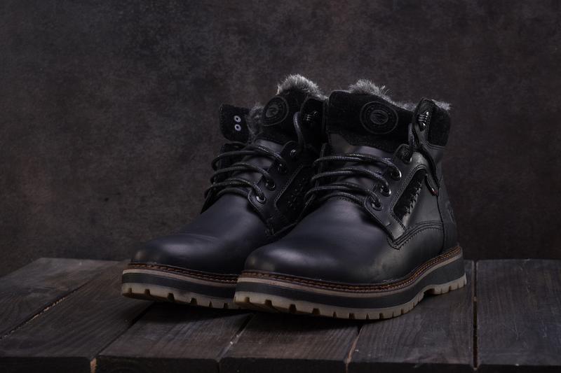 Мужские ботинки кожаные зимние черные riccone 222 - Фото 5