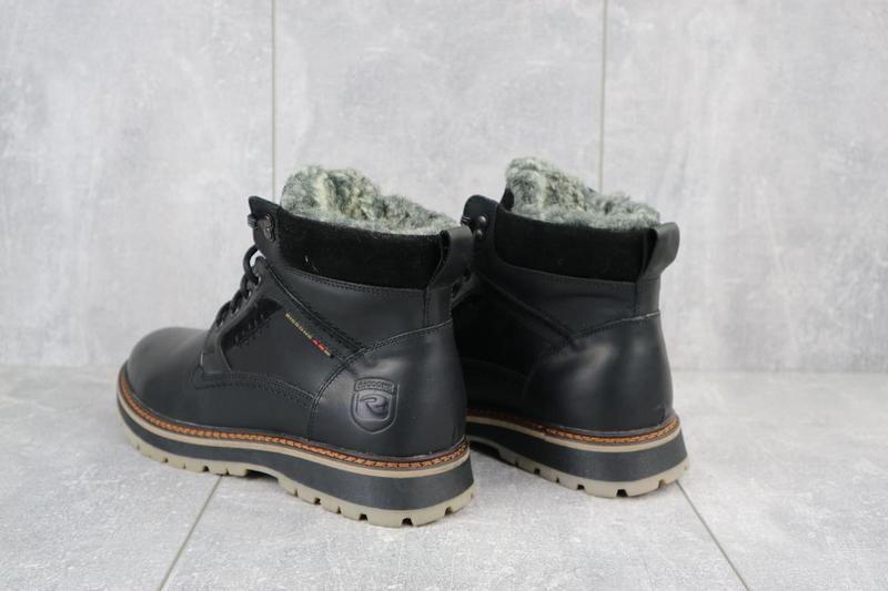 Мужские ботинки кожаные зимние черные riccone 222 - Фото 7