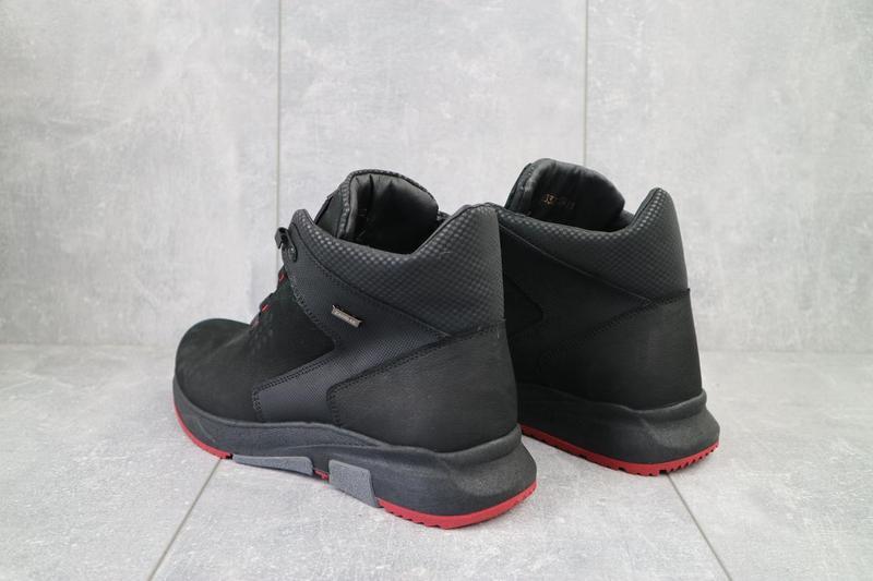 Мужские ботинки кожаные зимние черные zangak 129 ч-н-красн - Фото 2