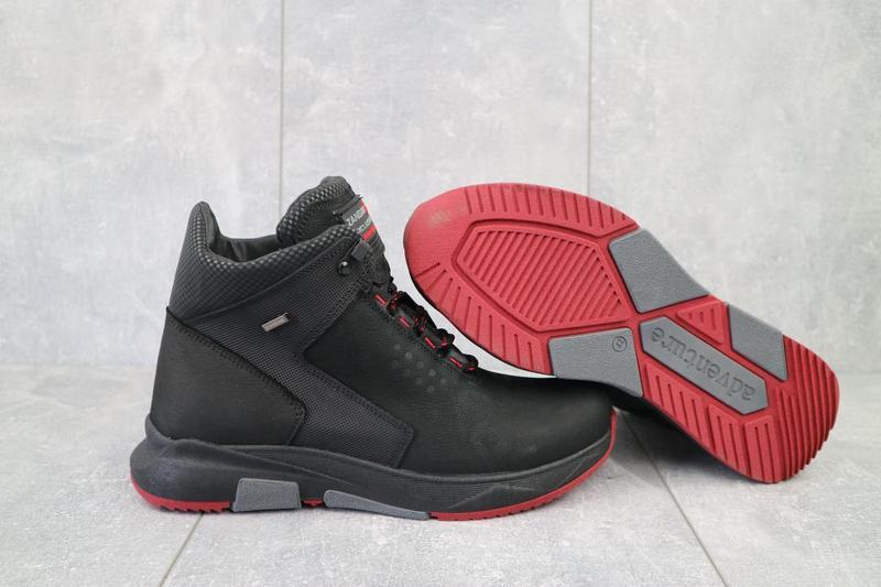 Мужские ботинки кожаные зимние черные zangak 129 ч-н-красн - Фото 5