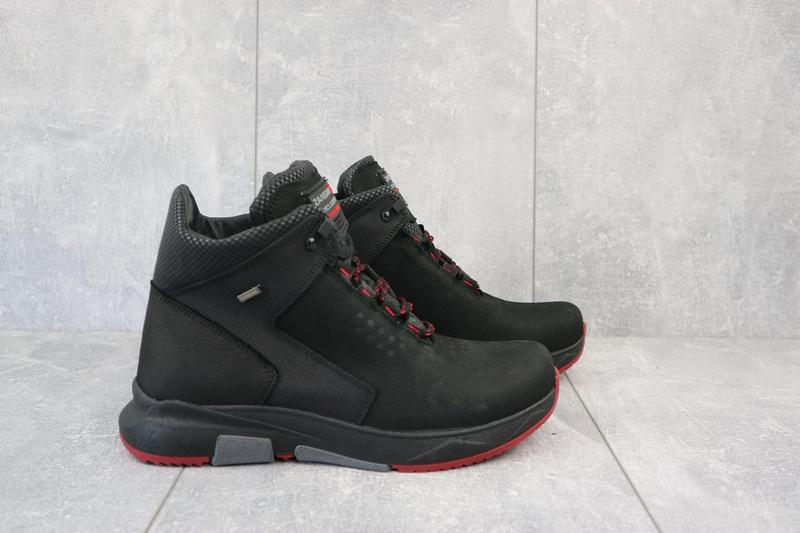 Мужские ботинки кожаные зимние черные zangak 129 ч-н-красн - Фото 6
