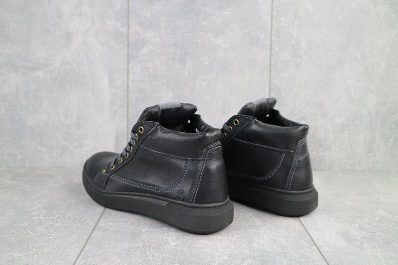 Мужские ботинки кожаные зимние черные bastion 18082ч - Фото 2