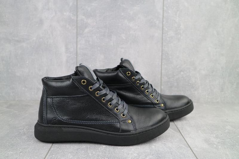 Мужские ботинки кожаные зимние черные bastion 18082ч - Фото 5