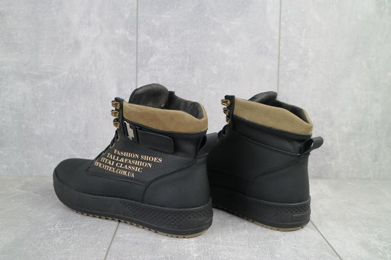 Мужские ботинки кожаные зимние черные vitex 0210 - Фото 2