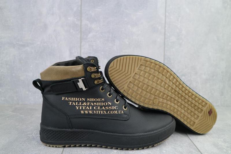 Мужские ботинки кожаные зимние черные vitex 0210 - Фото 3