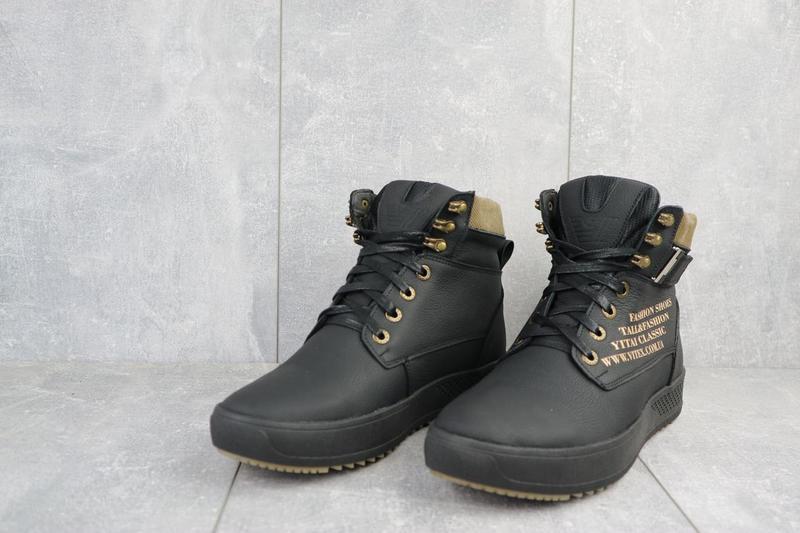 Мужские ботинки кожаные зимние черные vitex 0210 - Фото 4