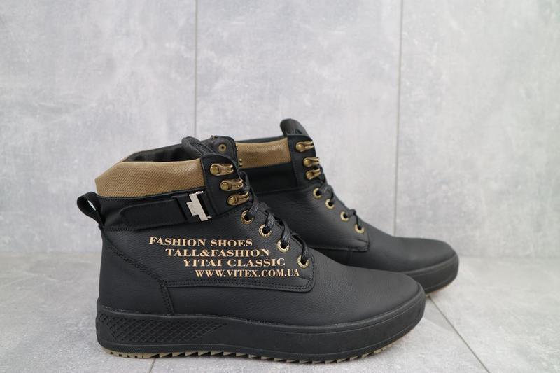 Мужские ботинки кожаные зимние черные vitex 0210 - Фото 5