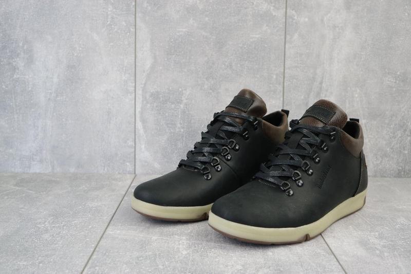 Мужские ботинки кожаные зимние черные-матовые yuves 773 - Фото 3