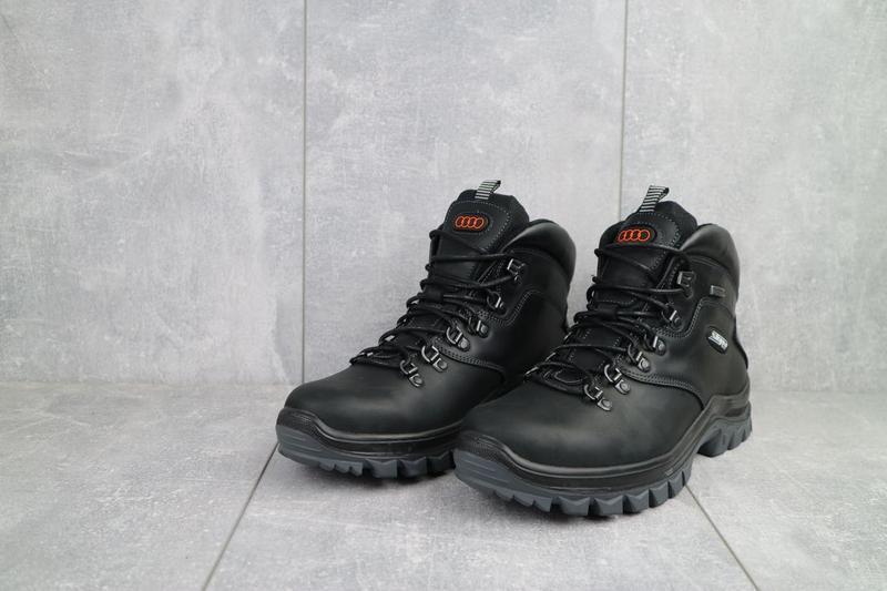 Мужские ботинки кожаные зимние черные storm rxv-2 - Фото 4