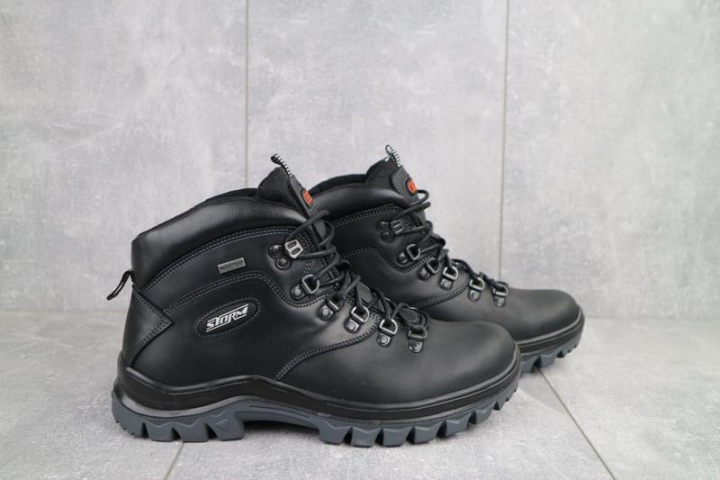 Мужские ботинки кожаные зимние черные storm rxv-2 - Фото 5