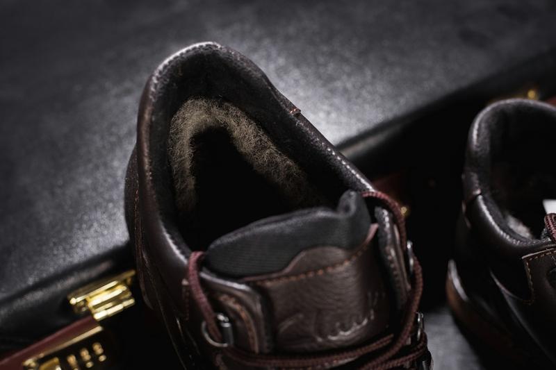 Мужские ботинки кожаные зимние коричневые yuves 600 - Фото 4