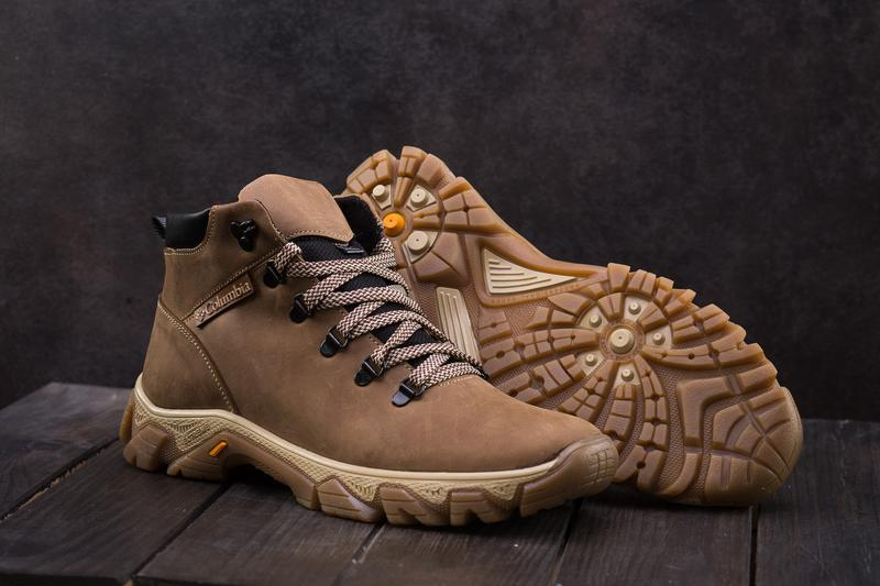 Мужские ботинки кожаные зимние оливковые twics к2 - Фото 2