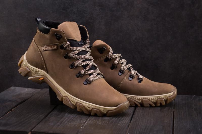 Мужские ботинки кожаные зимние оливковые twics к2 - Фото 3