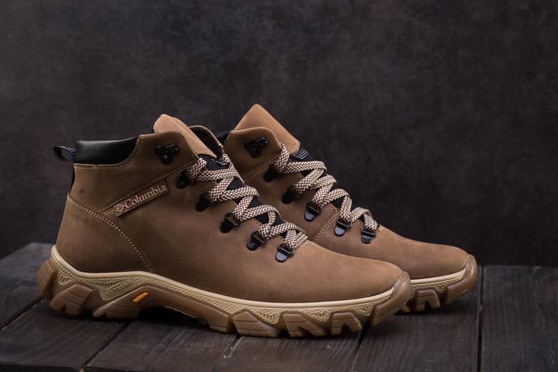Мужские ботинки кожаные зимние оливковые twics к2 - Фото 4
