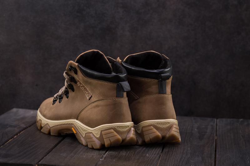 Мужские ботинки кожаные зимние оливковые twics к2 - Фото 5