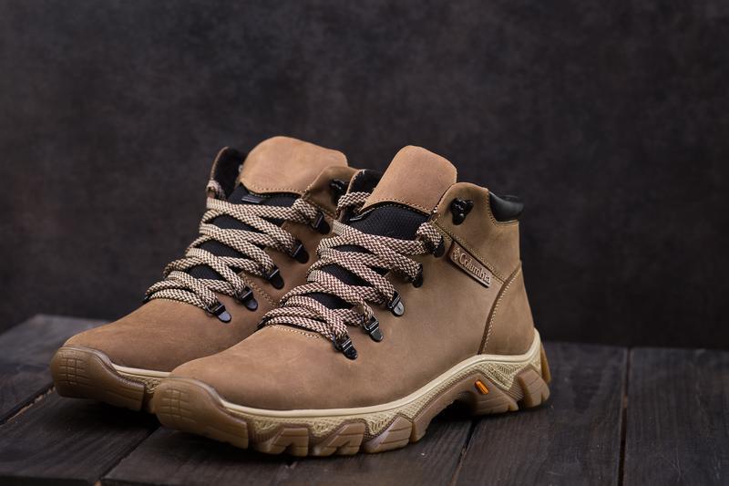 Мужские ботинки кожаные зимние оливковые twics к2 - Фото 6