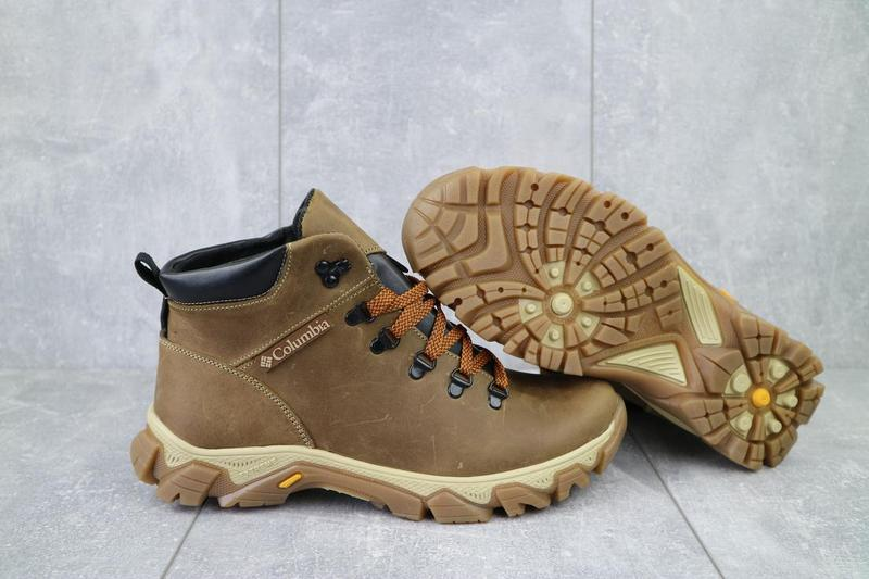 Мужские ботинки кожаные зимние оливковые twics к2 - Фото 7