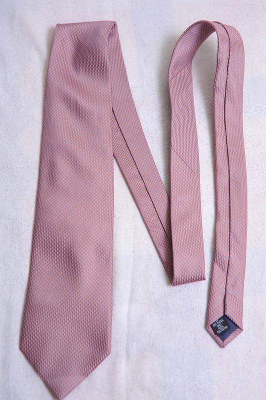 Стильный  фактурный галстук с отливами george - Фото 2