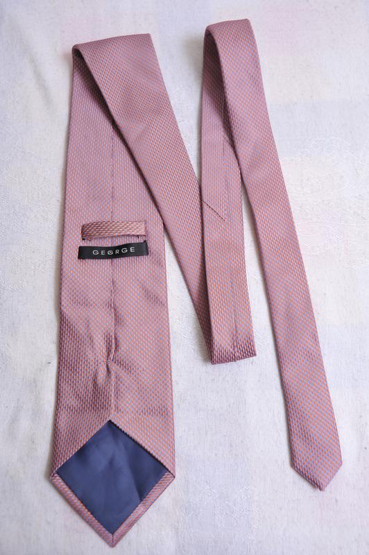 Стильный  фактурный галстук с отливами george - Фото 3