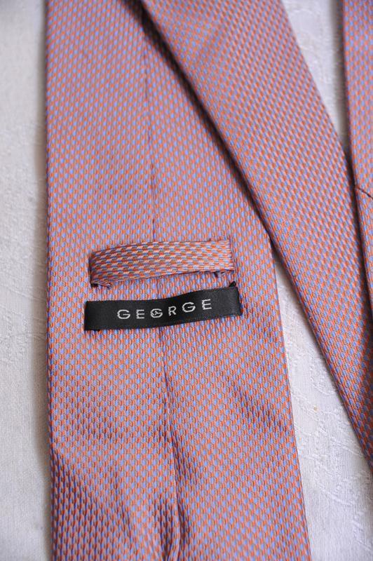 Стильный  фактурный галстук с отливами george - Фото 4