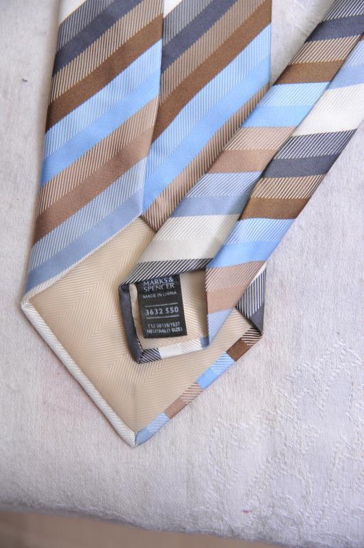 """Стильный фактурный  галстук """"marks & spencer"""" - Фото 4"""