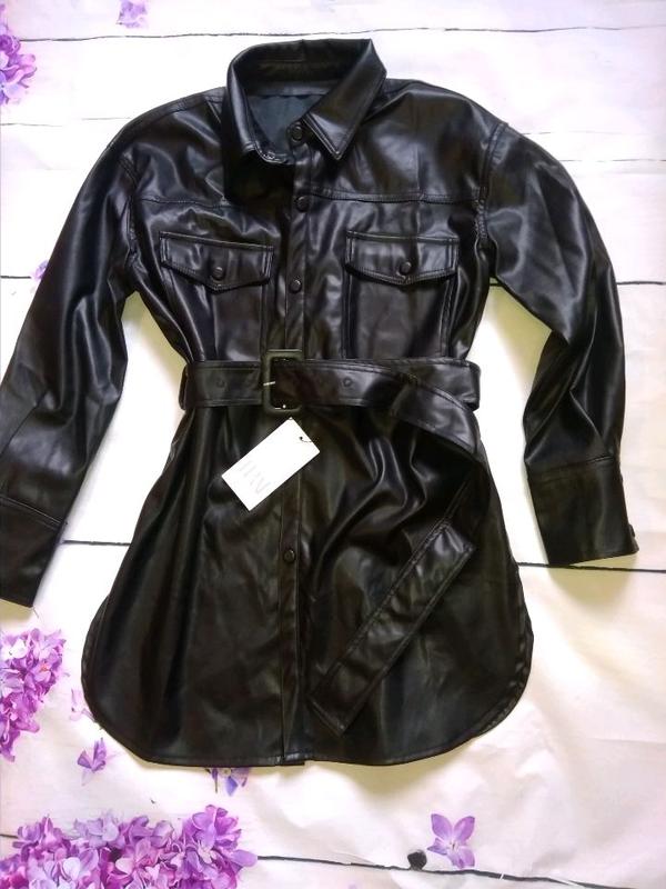 Удлинённая рубашка в стиле Zara - Фото 4