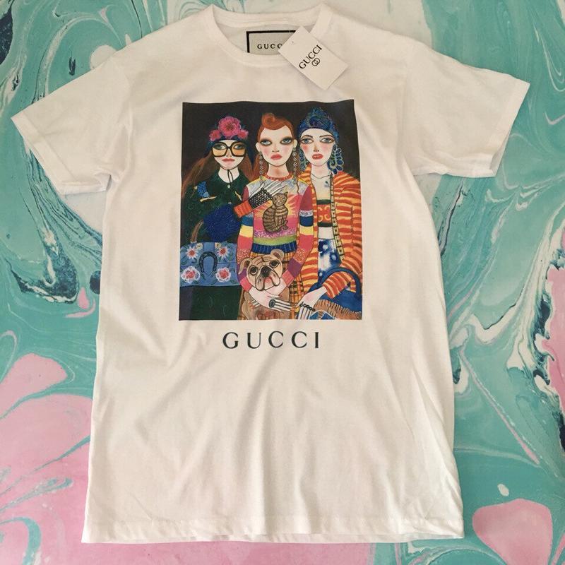 Футболка gucci fashion girls• белая футболка гуччи • ориг бирки