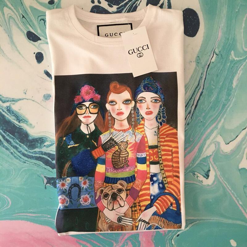 Футболка gucci fashion girls• белая футболка гуччи • ориг бирки - Фото 3