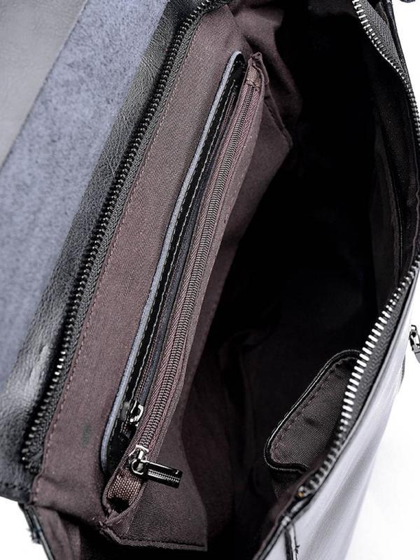 Женский кожаный рюкзак шкіряний жіночий сумка трансформер - Фото 2