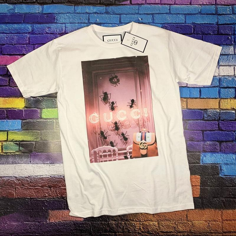 Gucci  футболка белая• ориг бирки• футболка гуччи• топ качество