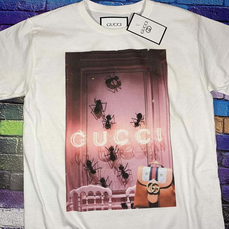 Gucci  футболка белая• ориг бирки• футболка гуччи• топ качество - Фото 2