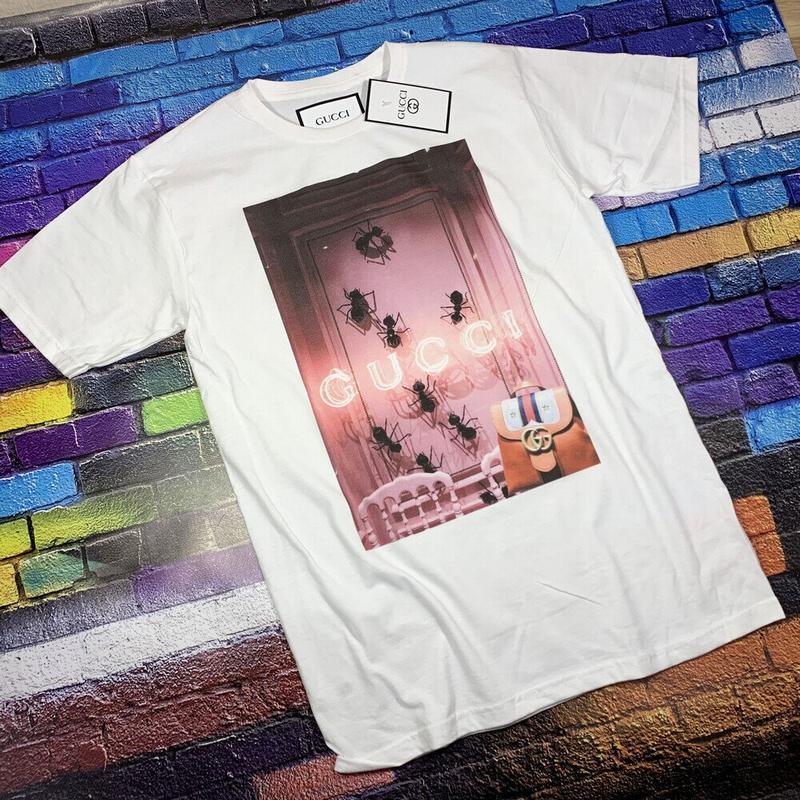Gucci  футболка белая• ориг бирки• футболка гуччи• топ качество - Фото 3