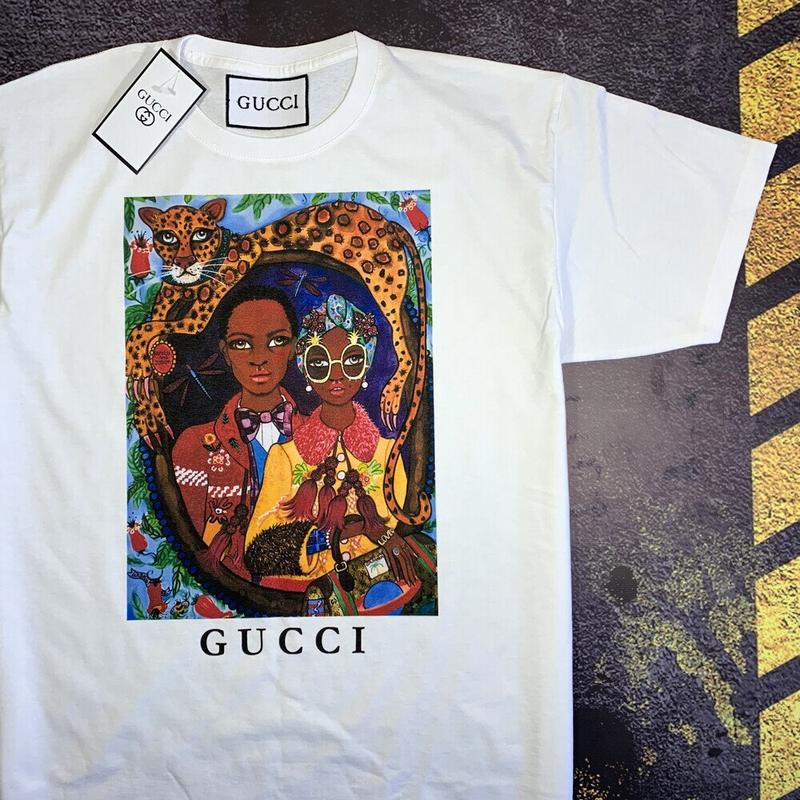 Gucci крутая футболка• белая футболка гуччи• ориг бирки - Фото 3