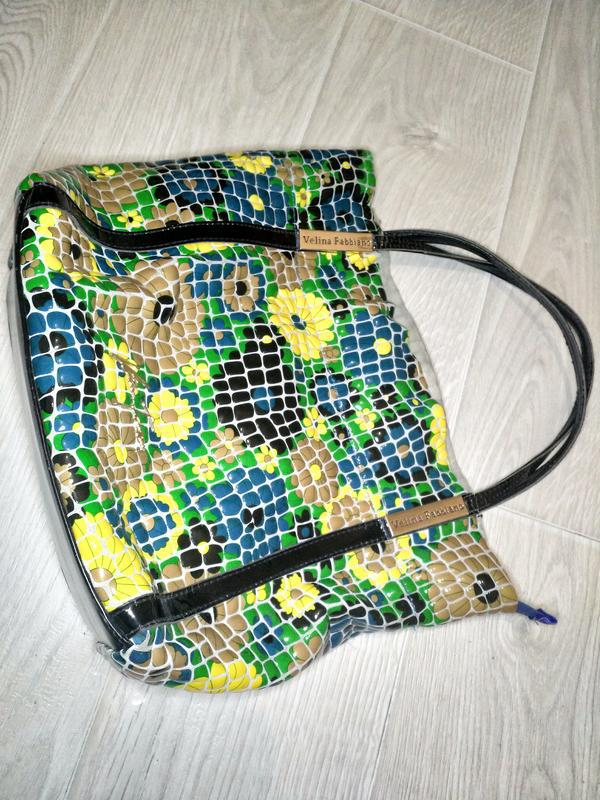 Кожаная сумка премиального качества бутылочный зеленый цветной