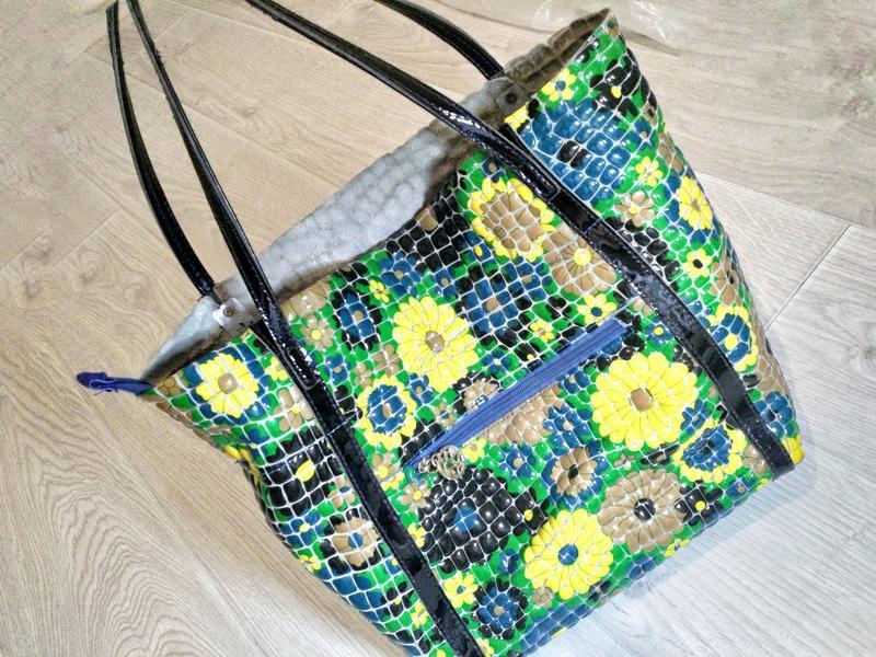 Кожаная сумка премиального качества бутылочный зеленый цветной - Фото 2