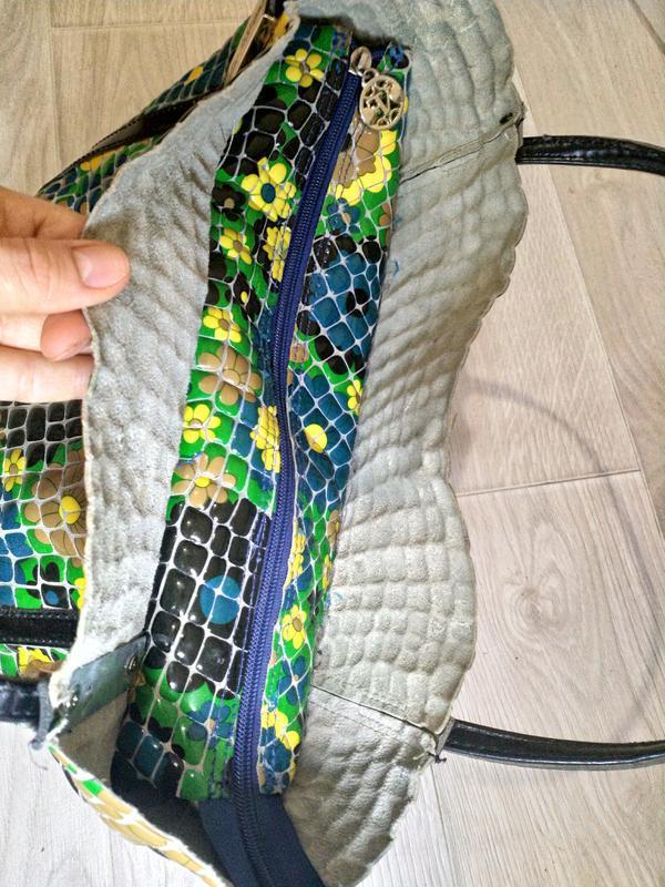 Кожаная сумка премиального качества бутылочный зеленый цветной - Фото 3