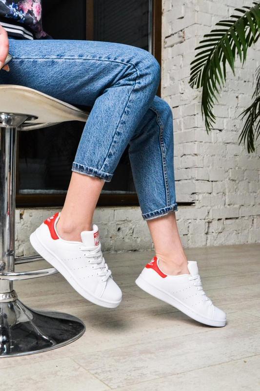 Модные кроссовки 💪adidas stan smith white red💪 - Фото 2