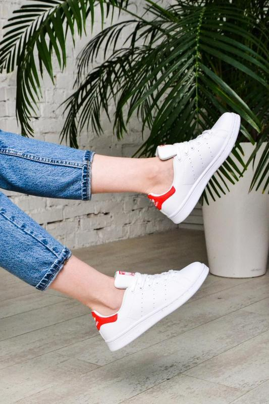 Модные кроссовки 💪adidas stan smith white red💪 - Фото 4